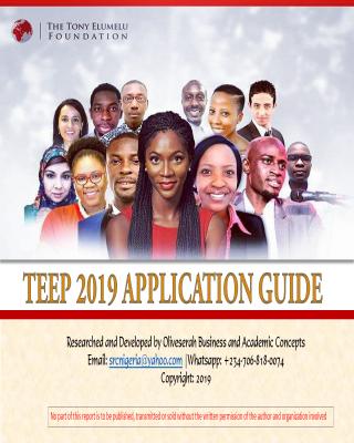 Application Guideline for the 2019 Tony Elumelu Enterpreneurship Program