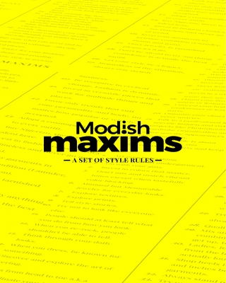 Modish Maxims: A Set of Style Rules