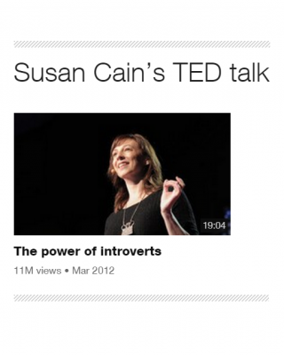 Susan Cain: The Power Of Introverts (TED talk)