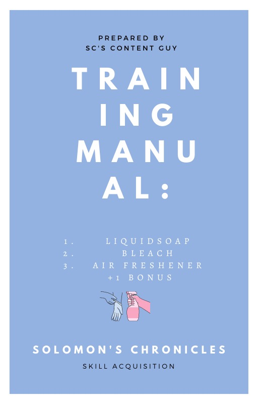 Training Manual: Liquid soap, Bleach, Air Freshener and 1 Bonus