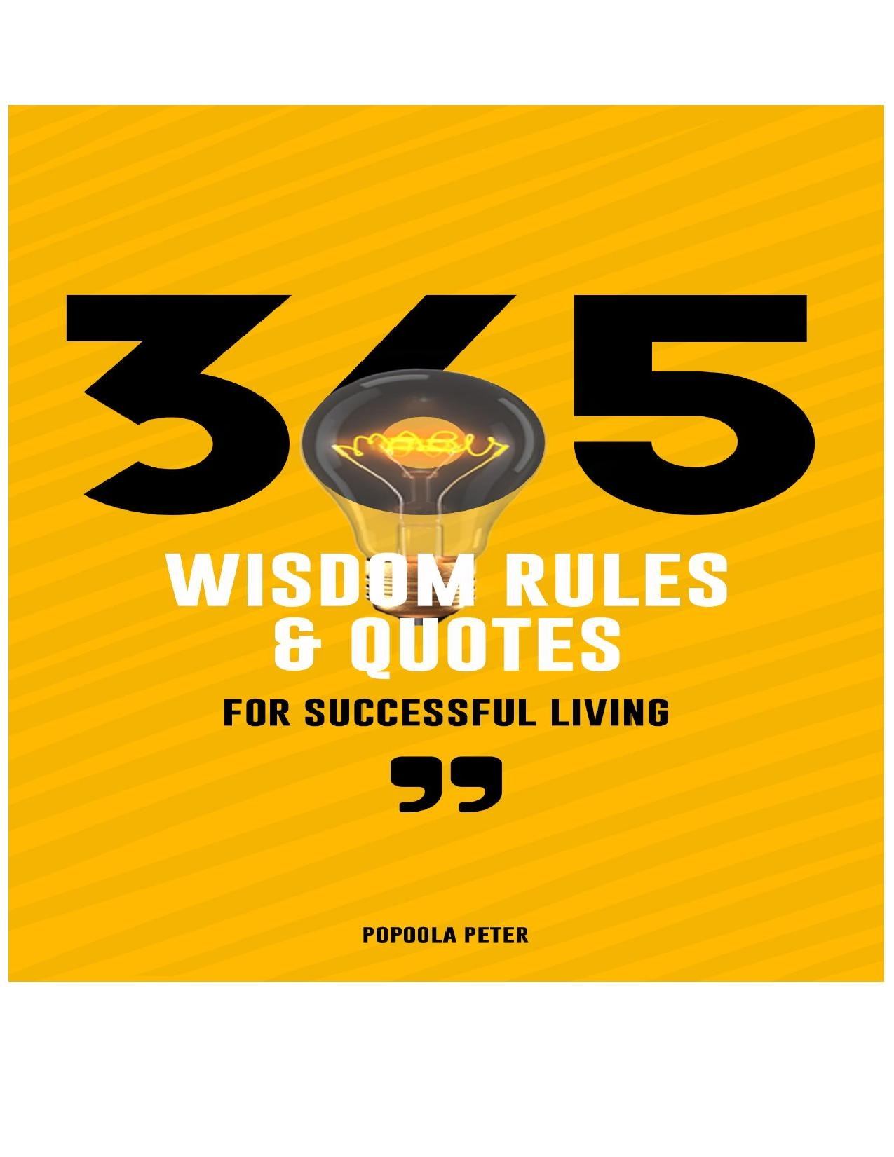 Wisdom rules for Successful living
